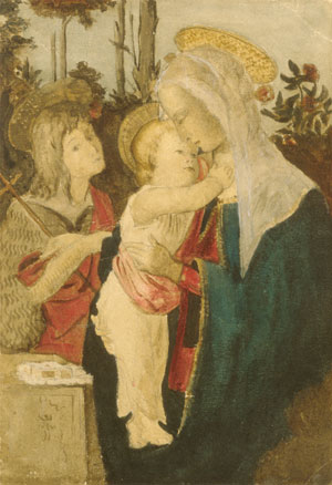 Copy after Botticelli   Julian Alden Weir   Oil Painting