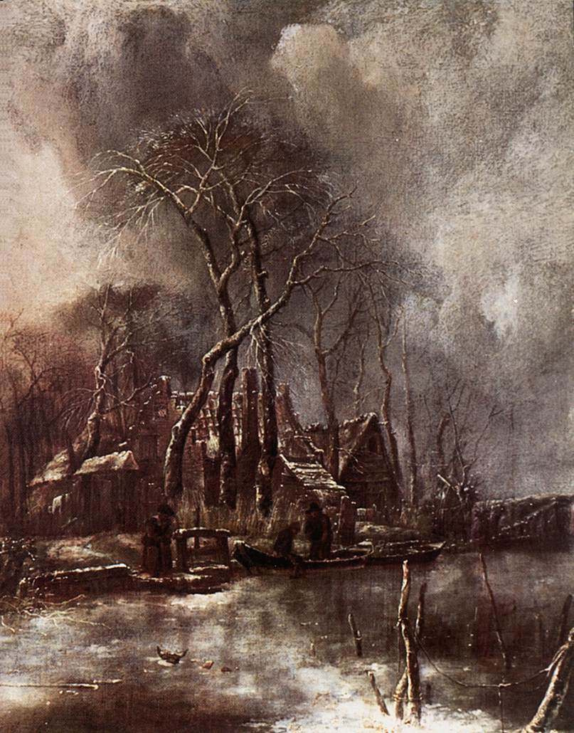 Winter Landscape 1650s | Jan Van de Capelle | Oil Painting