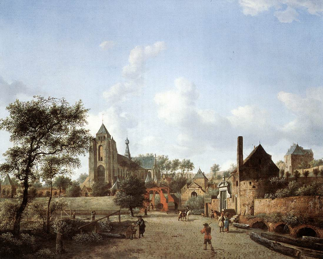 Approach To The Town Of Veere 1665 | Jan Van Der Heyden | Oil Painting
