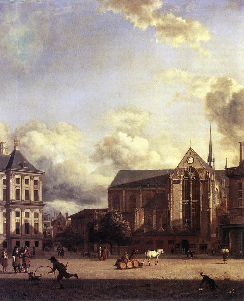 Dam Square Amsterdam 1668 | Jan Van Der Heyden | Oil Painting