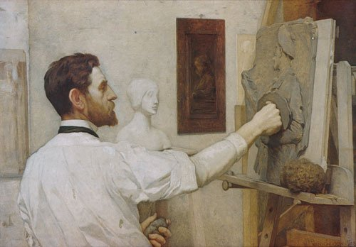 Augustus Saint Gaudens 1887 this replica 1908 | Kenyon Cox | Oil Painting