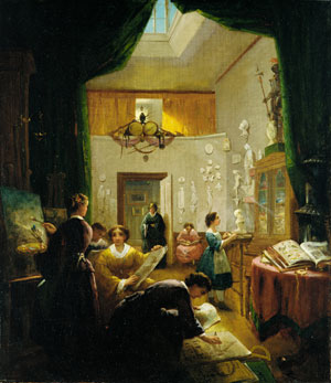 Women's Art Class 1868 | Louis Lang | Oil Painting