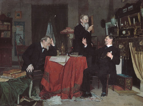 A Discussion | Louis Moeller | Oil Painting