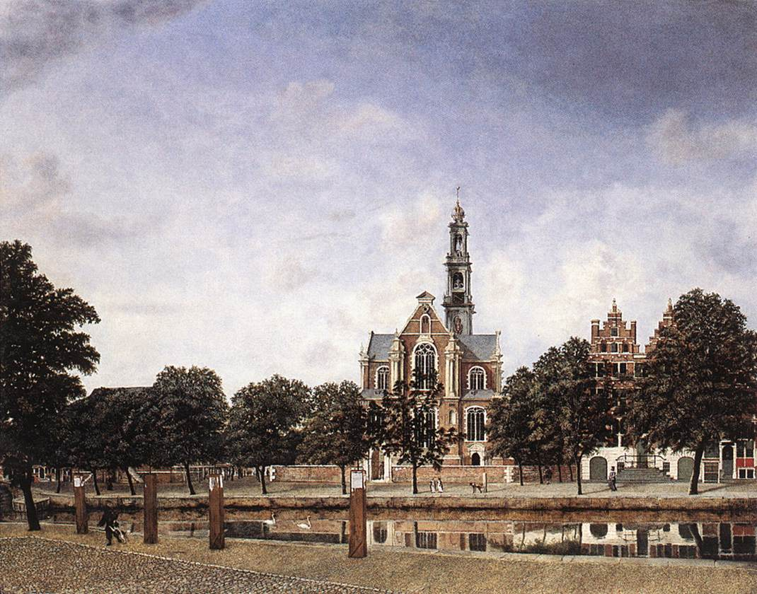 View Of The Westerkerk Amsterdam 1660 | Jan Van Der Heyden | Oil Painting