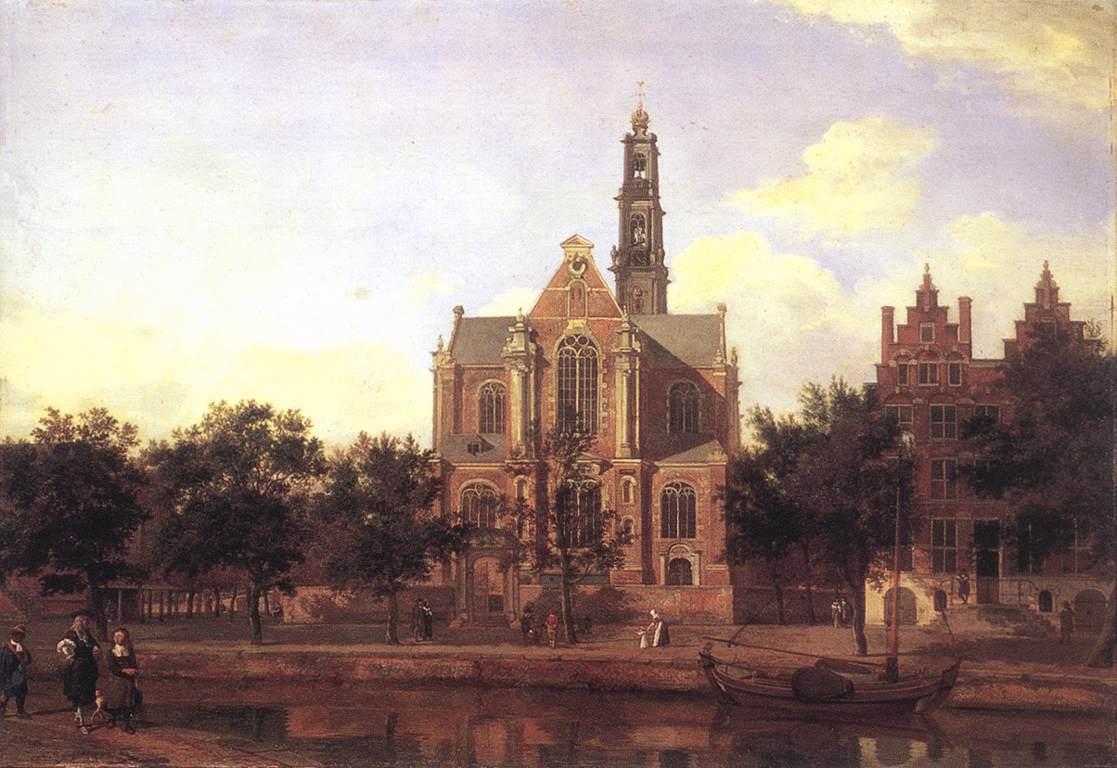View Of The Westerkerk Amsterdam 1670s | Jan Van Der Heyden | Oil Painting