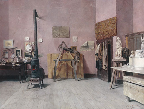 Sculptor's Studio Probably the 1880s | Louis Moeller | Oil Painting