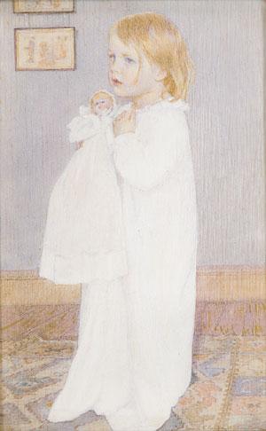 Portrait of a Child 1898 | Lucia Fairchild Fuller | Oil Painting