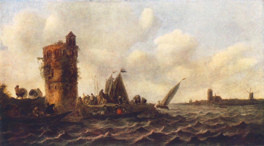 A View On The Maas Near Dordrecht 1643 | Jan Van Goyen | Oil Painting