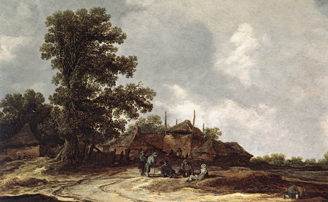 Farmyard With Haystack | Jan Van Goyen | Oil Painting