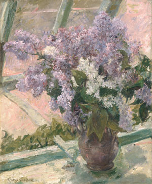 Lilacs in a Window 1880 | Mary Cassatt | Oil Painting