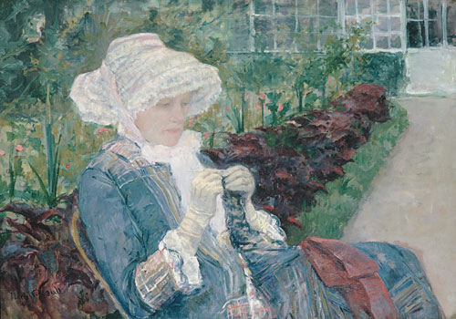 Lydia Crocheting in the Garden at Marly 1880 | Mary Cassatt | Oil Painting