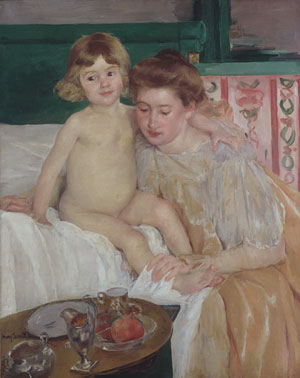 Mother and Child (Baby Getting Up from His Nap) | Mary Cassatt | Oil Painting