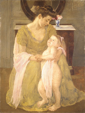 Mother and Child with a Rose Scarf 1908 | Mary Cassatt | Oil Painting