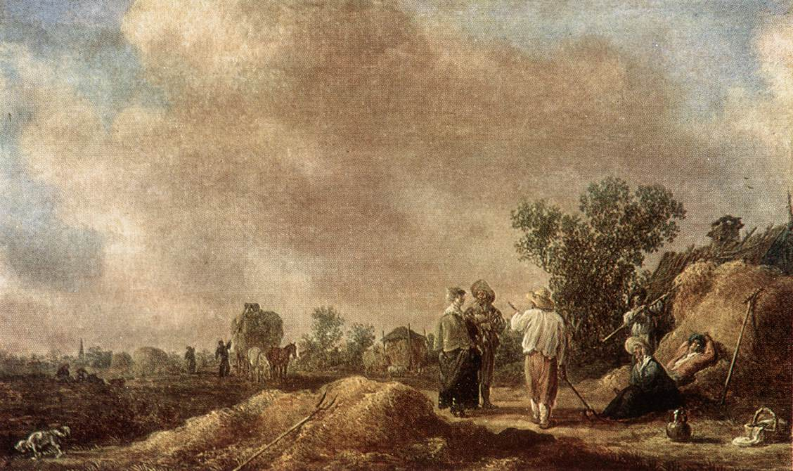 Haymaking 1630 | Jan Van Goyen | Oil Painting
