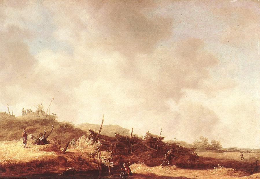 Marine Landscape With Fishermen | Jan Van Goyen | Oil Painting
