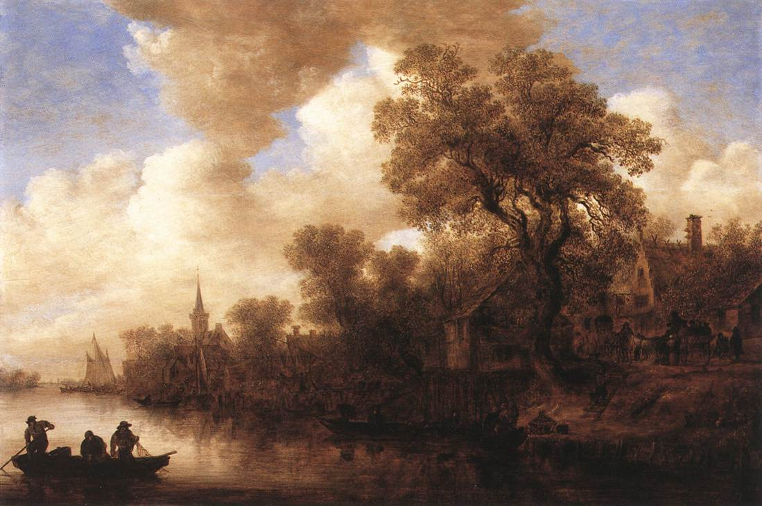 River Scene 1652 | Jan Van Goyen | Oil Painting