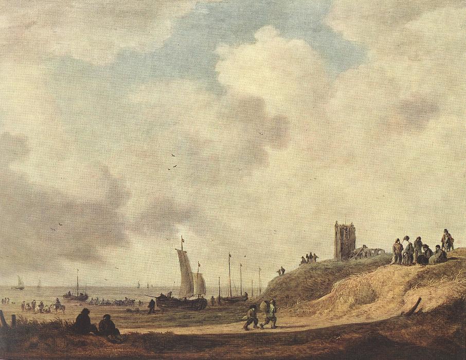 Seashore At Scheveningen 1645 | Jan Van Goyen | Oil Painting