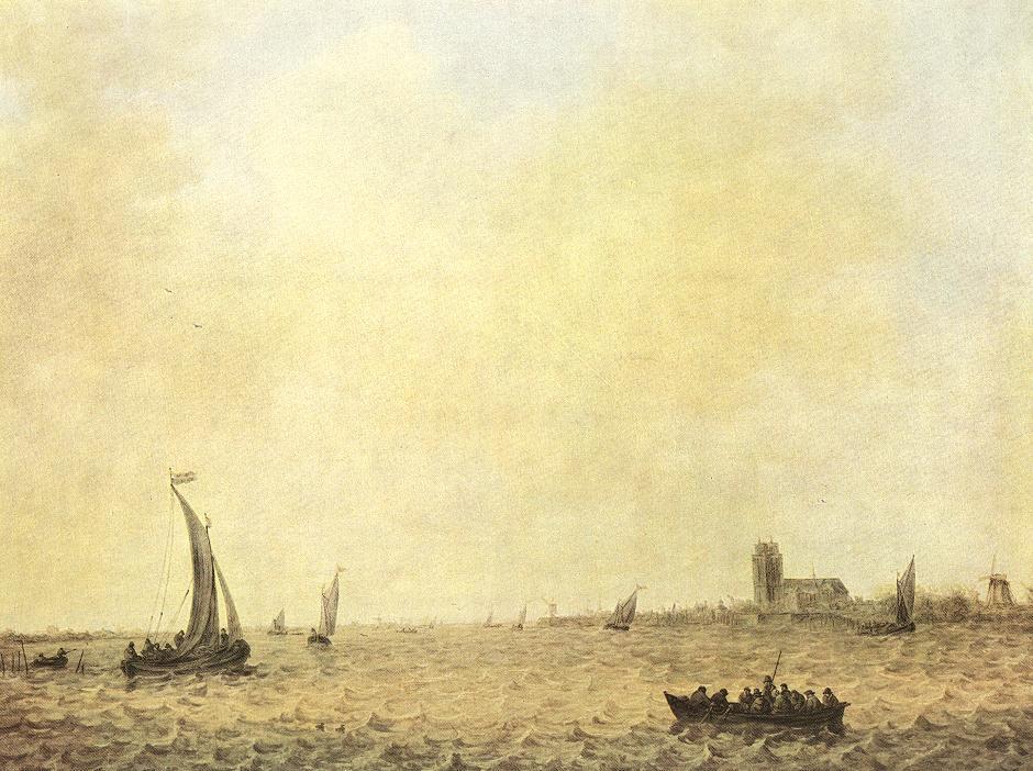 View Of Dordrecht From The Oude Maas 1644 | Jan Van Goyen | Oil Painting