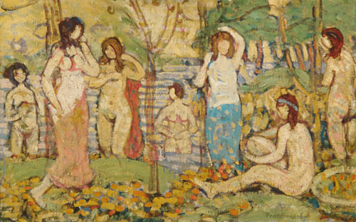 Beach No 3 ca 1913 | Maurice Prendergast | Oil Painting