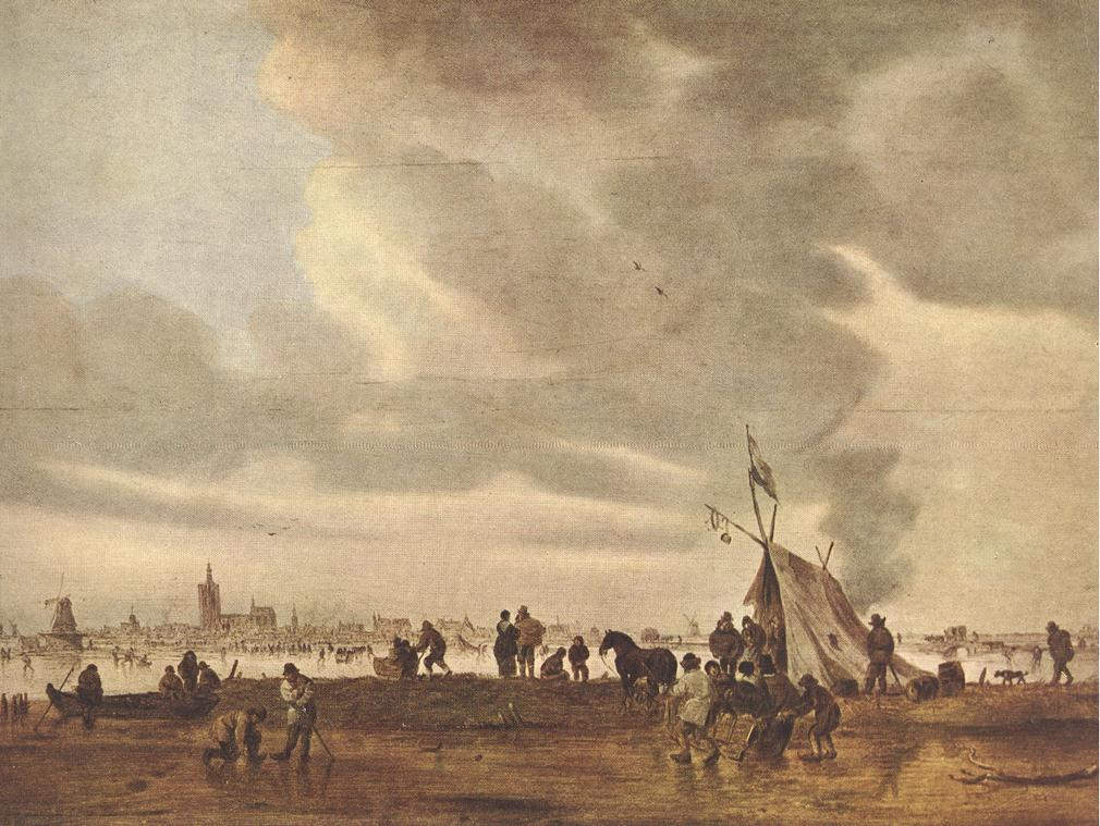 View Of The Hague In Winter 1645 | Jan Van Goyen | Oil Painting