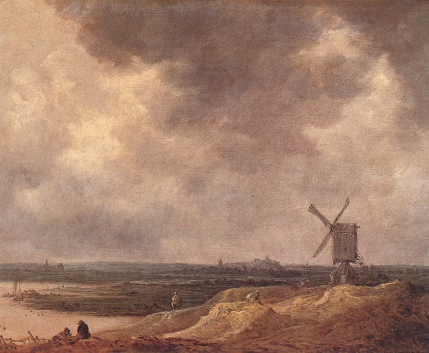 Windmill By A River 1642 | Jan Van Goyen | Oil Painting