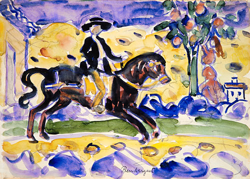 The Rider ca 1912 | Maurice Prendergast | Oil Painting