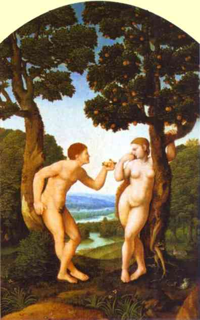 Adam And Eve 1540 | Jan Van Scorel | Oil Painting