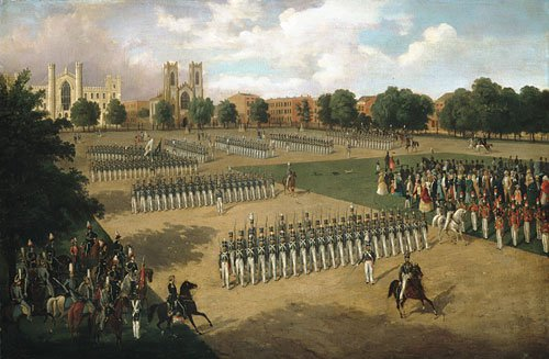 Seventh Regiment on Review Washington Square New York 1851 | Otto Boetticher | Oil Painting