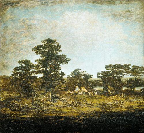 An Indian Encampment 1880 | Ralph Albert Blakelock | Oil Painting