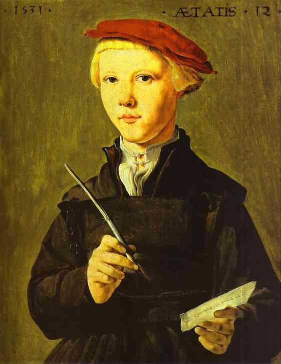 The Schoolboy 1531 | Jan Van Scorel | Oil Painting
