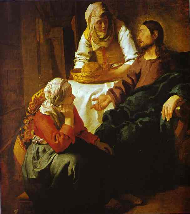 Christ In The House Of Mary And Martha 1654-1655 | Jan Vermeer | Oil Painting