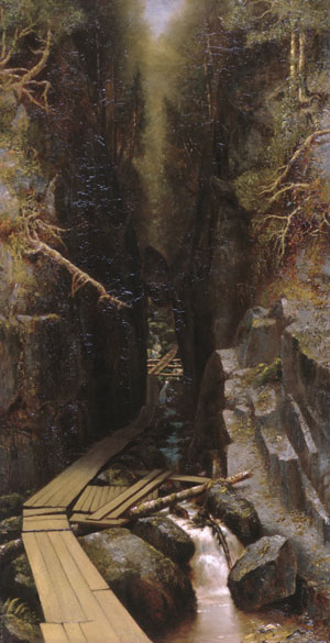 The Boulder and the Flume 1878 | Ralph Albert Blakelock | Oil Painting
