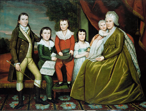 Mrs Noah Smith and Her Children 1798 | Ralph Earl | Oil Painting