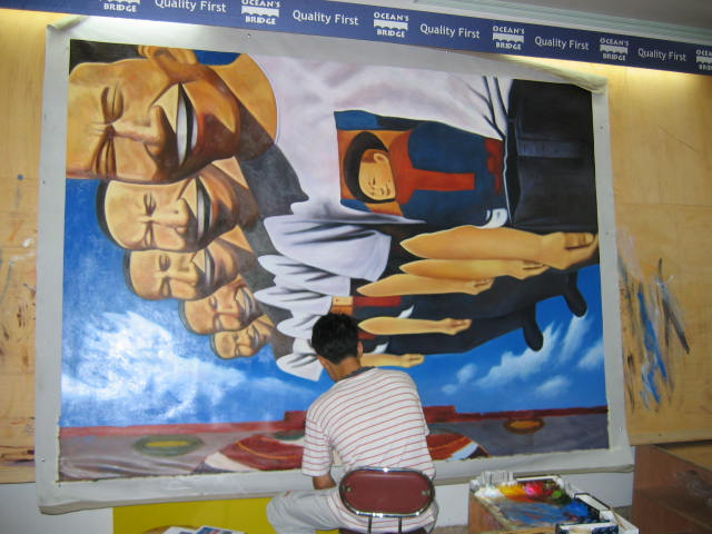 Painting a large painting