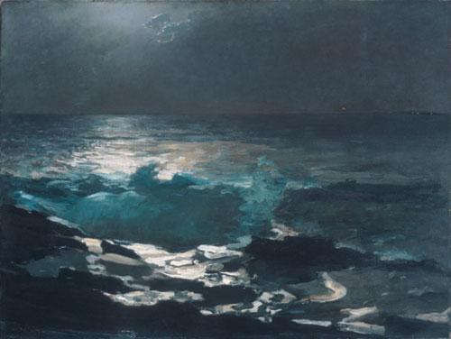 Moonlight Wood Island Light 1894 | Winslow Homer | Oil Painting
