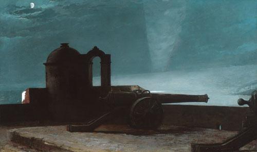 Searchlight on Harbor Entrance Santiago de Cuba 1901 | Winslow Homer | Oil Painting