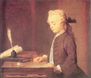 Portrait Of Auguste Gabriel Godefroy 1738 | Jean Baptiste Simeon Chardin | Oil Painting
