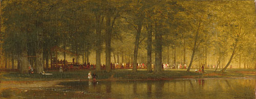 The Camp Meeting 1874 | Worthington Whittredge | Oil Painting
