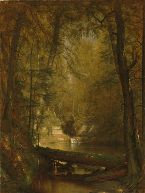 The Trout Pool 1870 | Worthington Whittredge | Oil Painting