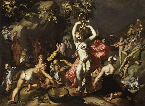 Moses Striking the Rock 1596 | Abraham Bloemaert | Oil Painting