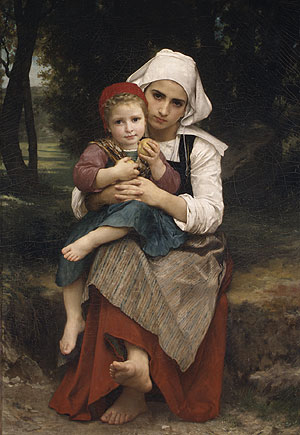 Breton Brother and Sister 1871   Adolphe William Bouguereau   Oil Painting