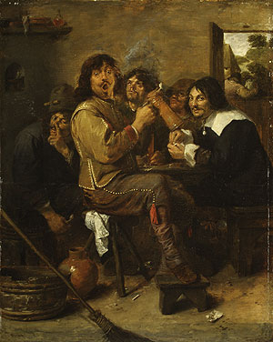 The Smokers probably ca 1636 | Adriaen Brouwer | Oil Painting