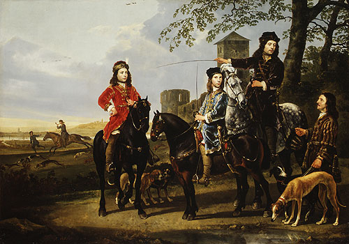 Starting for the Hunt Michiel and Cornelis Pompe van Meerdervoort with Their Tutor and Coachman | Aelbert Cuyp | Oil Painting