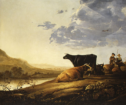 Young Herdsmen with Cows ca 1650 | Aelbert Cuyp | Oil Painting