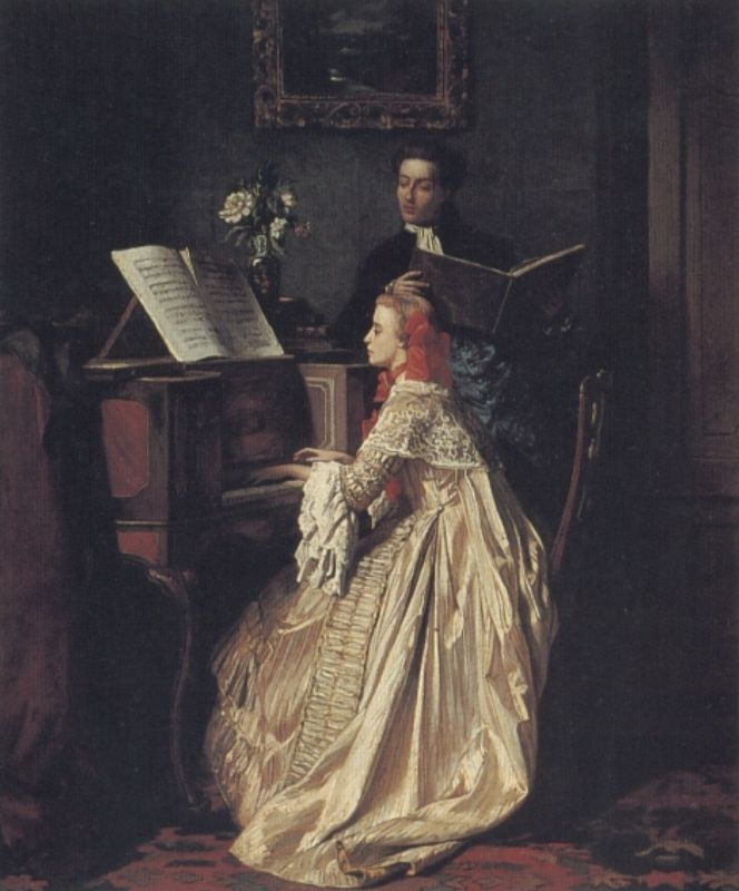 The Music Lesson | Jean Carolus | Oil Painting