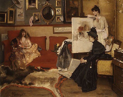 In the Studio 1888 | Alfred Stevens | Oil Painting