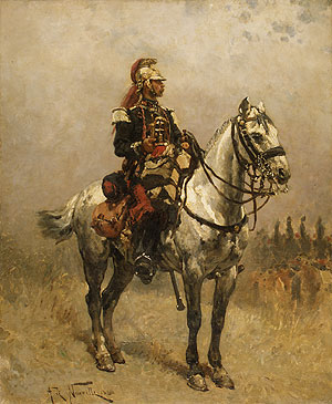 A Cavalryman 1884 | Alphonse Marie Adolphe de Neuville | Oil Painting