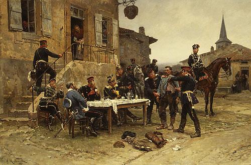 The Spy 1880 | Alphonse Marie Adolphe de Neuville | Oil Painting