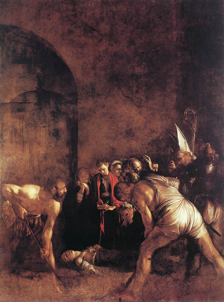 Burial of St Lucy | Michelangelo Merisi da Caravaggio | Oil Painting
