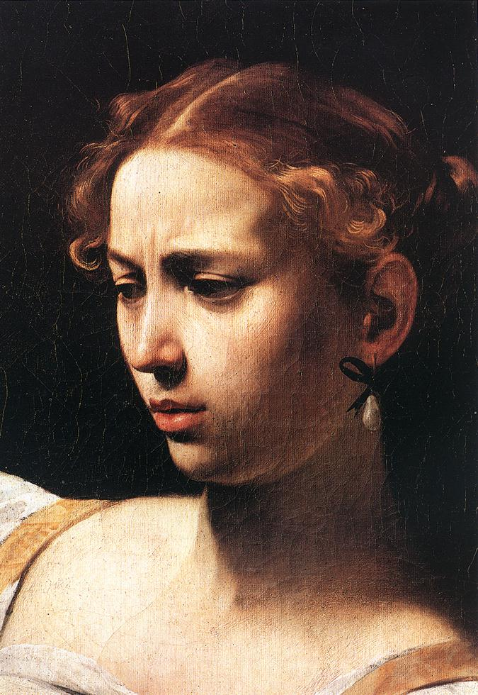 Caravaggio Judith Beheading Holofernes detail1 | Michelangelo Merisi da Caravaggio | Oil Painting